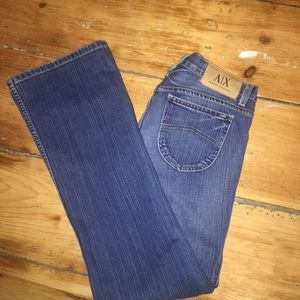 Armani Exchange Jeans - Armani Exchange distressed wide leg jeans. Size 6